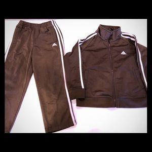 Adidas Kids Brown Track Suit sz 5